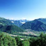 Vista sulla conca con le Dolomiti – Settimo Rizzotto